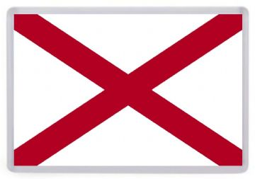Alabama State Flag Fridge Magnet. USA
